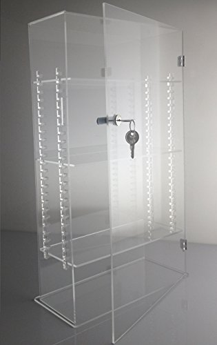 T'z Tagz Brand Acrylic Lucite Showcase with ADJUSTABLE SHELVES Jewelry Pastry Bakery Counter Display W/door & Lock (10