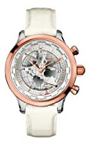 TX Unisex T3C169 530 Worldtime Airport Lounge Retro Rose-Tone White Strap Watch