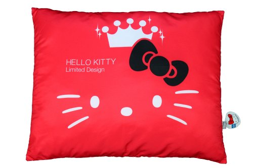 Eikoh Official Sanrio 35th Anniversary Hello Kitty Pillow – Red – 27″ x 20″ x 3″