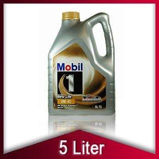 Mobil 1 0W40 0W-40 New Life Motoröl 5 Liter