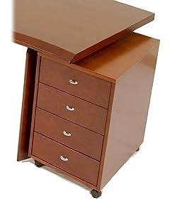 Amazon.com: 4-Drawer File Cabinet on Wheels - Bali: Home ...