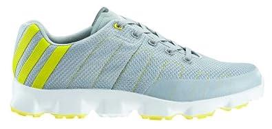 2013 Adidas Crossflex Mens Golf Shoes Chrome/White/Yellow 9UK