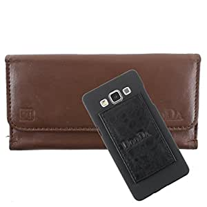 DooDa Genuine Leather Wallet Flip Case Cover With Card & ID Slots For HTC ONE X / HTC One X Plus