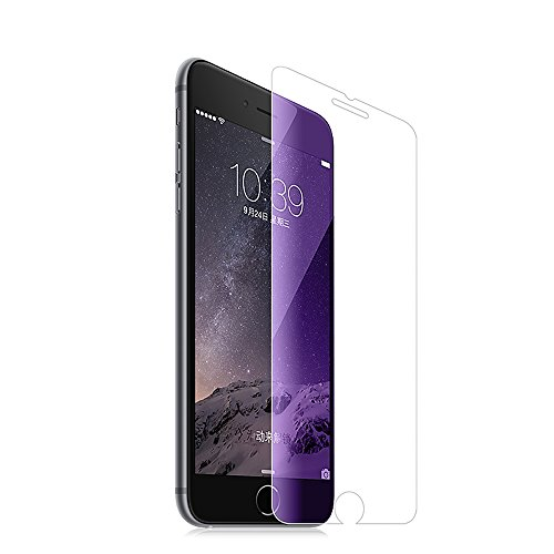 iPhone 7 Screen Protector Pinhen HOCO Coverage Tempered Glass Screen Protector with Anti-Fingerprint/Smooth Touch/Eye Protection Matt Back Film for Apple Iphone 7 (iPhone7 Blue)