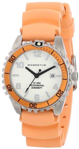 Momentum  1M-DV07WO1O - Reloj de cuarzo para mujer, con correa de goma, color naranja
