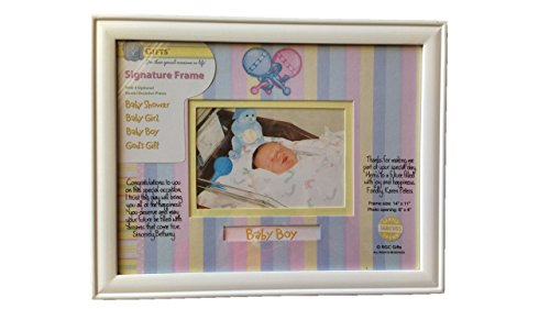 Baby Keepsake Signature Frame - Four Occasion Name Plates - 1