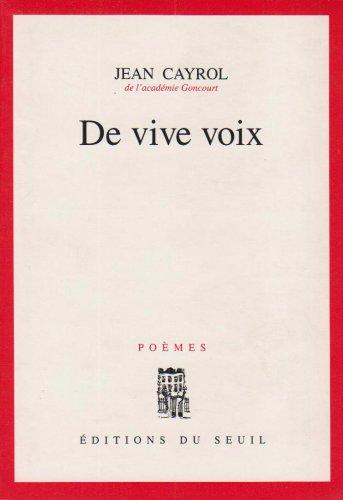 De vive voix: Poemes (French Edition)