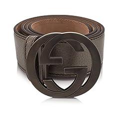 Gucci 114876 Gucci Metallic Bronze Gg Leather Size 48 Belt
