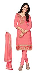krizel Shagun Gajri Chanderi Unstitched Straight Salwar Suit Dress Material