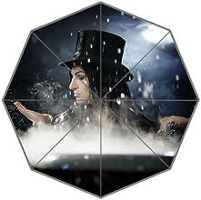 Who39sCreation Black Veil Brides Custom 100 Polyester Pongee Waterproof Fabric Foldable Umbrella