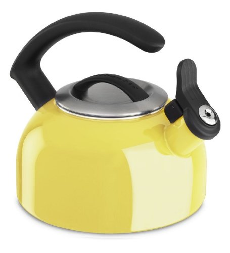 Kitchenaid 1.5-quart Rem Lid Tea Kettle Whistle Kten15anis Citrus Sunrise Yellow