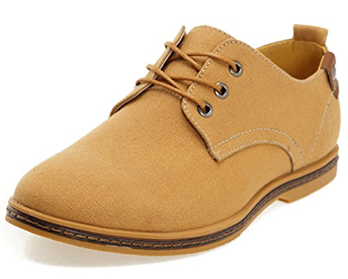 Dadawen Men'S Canvas Oxford Casual Shoe Camel Us Size 10.5 front-986012