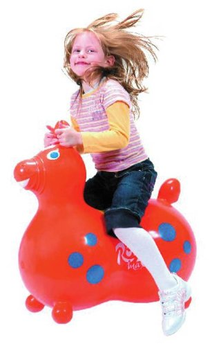 Abilitations Rody Max Inflatable Horse Seat - 40 Inches - Orange front-1085114