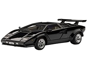 Lamborghini Countach 5000S (Black) (Diecast Model) by Auto Art