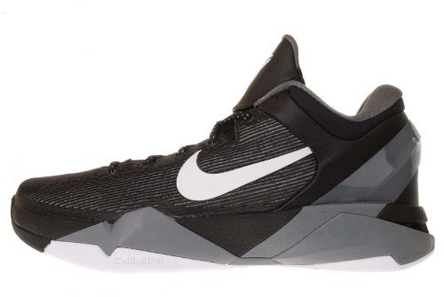 a44434d52eb9 Nike Zoom Kobe VII 7 Black Wolf Grey Lakers Bryant Basketball Shoes  488370-001