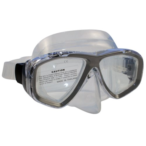 Promate Sea Viewer Mask (Clear, Titanium)