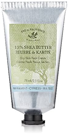 Pre de Provence Enriched, Dry, Cracked Foot Treatment 15% Shea Butter Foot Cream, 2.5 Ounce Tube - Peppermint