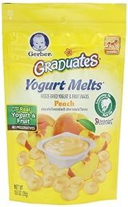 Gerber Graduates Yogurt Melts, Mixed Peach, 1 Ounce (Pack of 7)