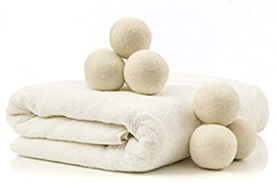 Wool Dryer Balls (Set of 8) - Natural Fabric Softener - Ecofriendly & Organic - Reusable Dryer Sheets for Infants - Soft and Gentle on Clothes & Skin