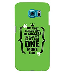 ColourCrust Samsung Galaxy S6 Edge Mobile Phone Back Cover With Success Motivational Quote - Durable Matte Finish Hard Plastic Slim Case
