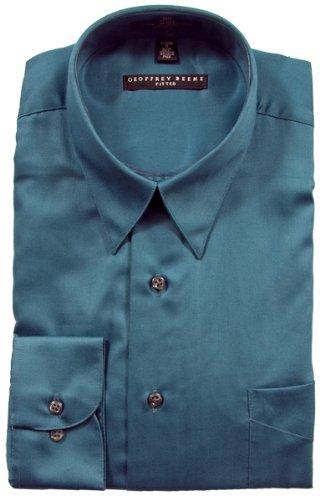 Geoffrey Beene Sateen Fitted Dress Shirt - Peacock