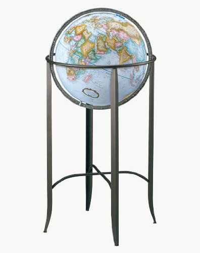 Replogle Globes Trafalgar Globe 16 Inch Blue Home Decor