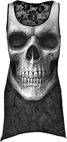 Spiral Solemn Skull Top donna nero XXL