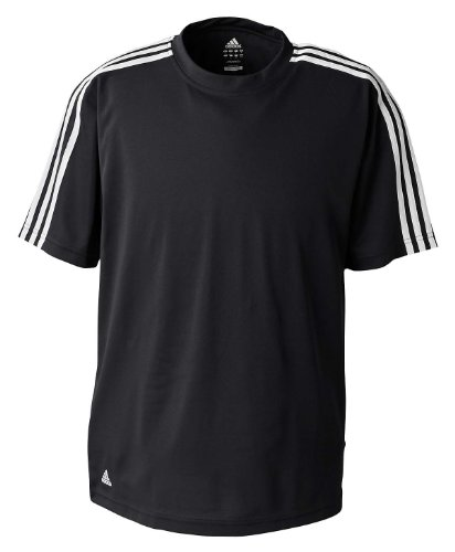 adidas Golf - Men's ClimaLite 3-Stripes T-Shirt >> XL,BLACK/