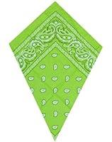 Bandana vert foulard paisley (green)