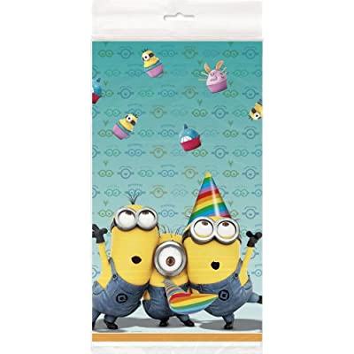 This Despicable Me Plastic Table Cover is decorative and practical. No one wants to see their table or their nice table cloth get ruined at a kid's birthday party so instead use this reusable plastic table cover. Plus, kids will love the fun Despicab...