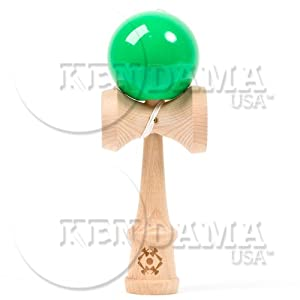 Kendama USA Tribute - Wooden Skill Toy- Green