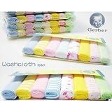 8x baby kids soft wash cloth bath feeding towel flannel wipe mixed colours