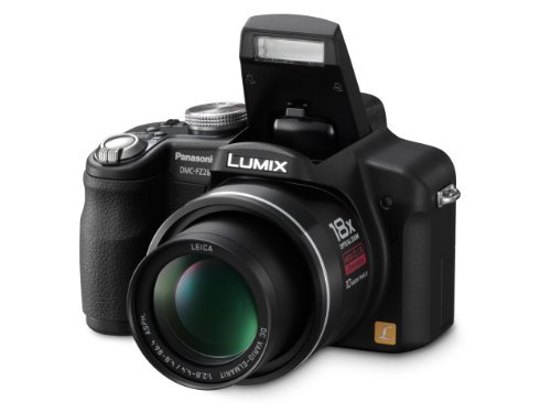 Panasonic  Lumix DMC-FZ28K 10MP Digital Camera with 18x Wide Angle MEGA Optical Image Stabilized Zoom (Black) (Panasonic Lumix Wireless compare prices)