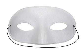 Domino Matte Unisex White Masquerade Mask