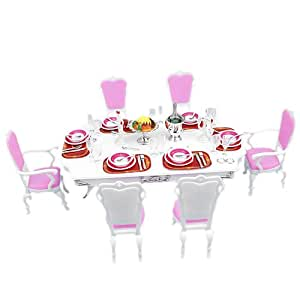 Amazon.com: Doll Dining Room Furniture Play Set: Toys & Games