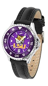 Louisiana State (LSU) Tigers Competitor AnoChrome Mens Watch with Nylon Leather Band... by SunTime