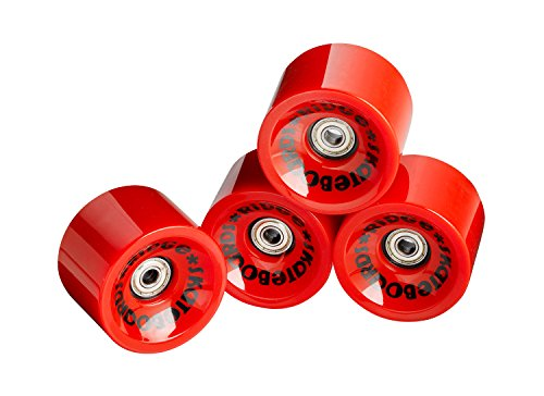 Ridge Skateboards 70mm Longboard Wheels Ruote per Skateboard, Rosso