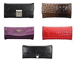 Oleva Ladies Clutch Bags combo set of 5 ODC-010