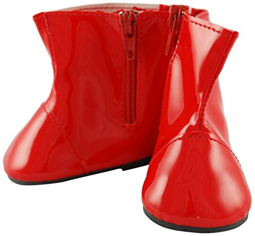 Unique Doll Clothing Red Colored Rain Boots for 18
