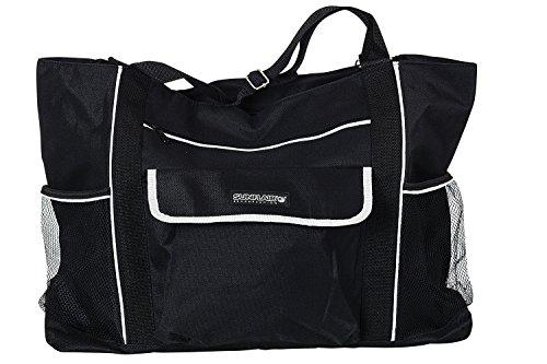 Sunflair Beachbag Badetasche Strandtasche Sporttasche Schultertasche Schwarz-Weiss