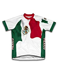 Mexico Flag Short Sleeve Cycling Jersey for Women