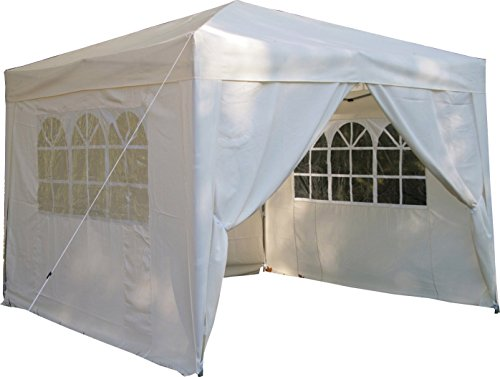 ESC Ltd Rapid 3x3mtr Pop Up Waterproof Gazebo in Cream with 2 WindBars and 4 Leg Weight Bags
