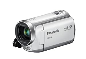 Panasonic HC-V100EG-W Full-HD-Camcorder (6,7cm (2,6 Zoll) LCD-Display, 34-fach opt. Zoom, 32mm Weitwinkel) weiß