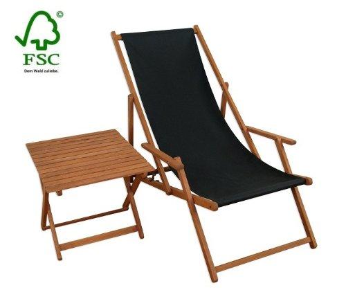 Sonnenliege Gartenliege Deckchair Saunaliege + Tisch günstig kaufen