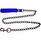 Petshop7 High Quality & Stylish Blue Nylon With Padded Handle Dog Chain -Medium