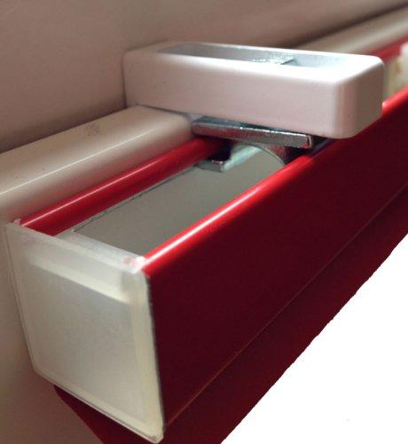 Klemmträger für Jalousien (2 Stück) - Montage ohne Bohren direkt auf dem Fensterflügel Ihres PVC-/Kunststofffensters
