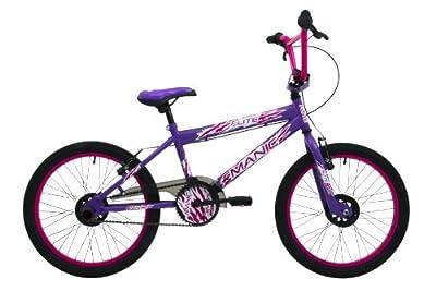 Flite Girls' Manic Freestyle BMX Bike - Purple/Cerise , 20 Inch