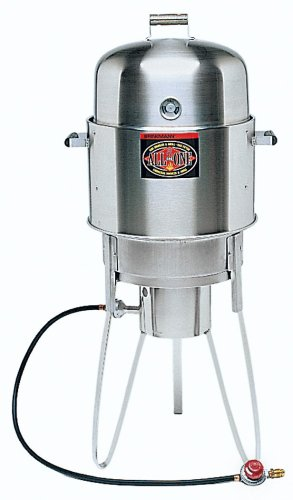 Brinkmann 810-5100-0 All-in-One Outdoor Cooker, Stainless Steel