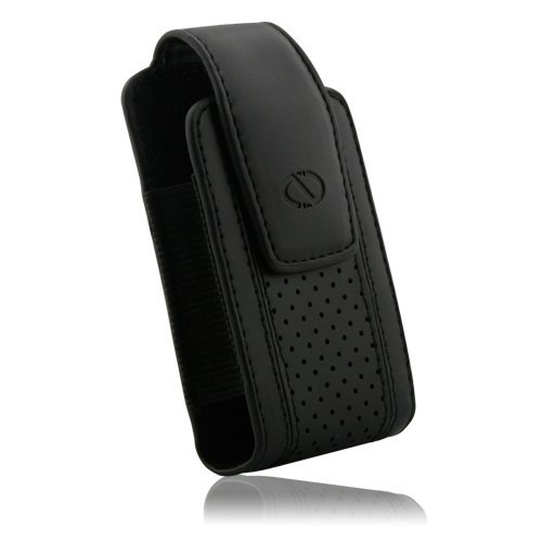 Naztech Executive Case -  Small and Medium Flip Phones - Pantech / Sony Ericcson / Samsung / LG / Motorola / Nokia - Black