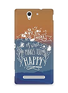 AMEZ do more of what makes you happy Back Cover For Sony Xperia C3 D2502